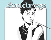 Audrey Hepburn Vector Graphic