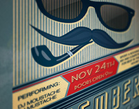 Movember Retro Party Flyer
