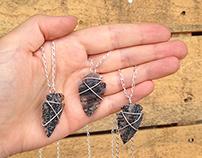 arrow-head pendants