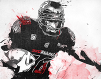 CFL: Marcus Henry, OTT REDBLACKS Digital Illustration