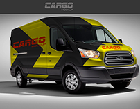 Free Mock-Up Van Cargo