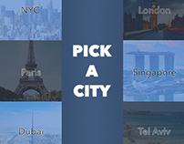 Pick A City Concept