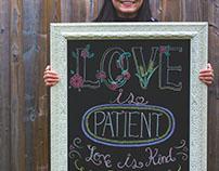 Chalk Art Poem: Love is Patient