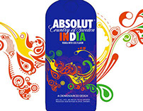 Absolut India limited edition bottle