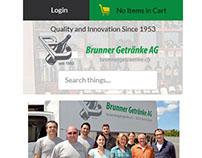 Brunner Getraenke - Mobile Responsive Design