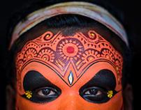 Closeup Of Theyyam Artist