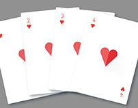 Flat design: Playing Cards