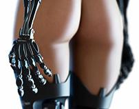 Cyberpunk from behind