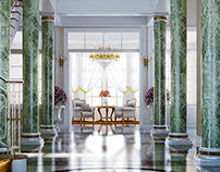 Neoclassical Interior render
