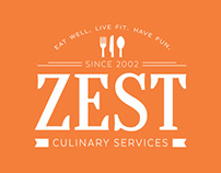 Zest Culinary Services Branding