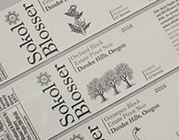 Sokol Blosser Wine Label Illustrations