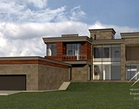 Проект дома в современном стиле, 600 м²