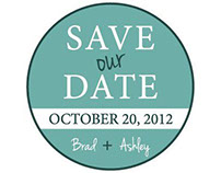 Wedding Save the Date Stamp, 2012