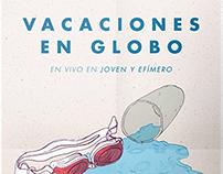 Poster. Vacaciones en Globo en Joven y Efímero