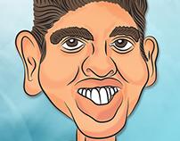 caricatura - caricature - ilustración - muscledman