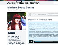 creative resume/cv * mariana sousa santos