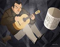 """""""Maestro de las Cuerdas""""- Postales Ilustradas del Maule"""
