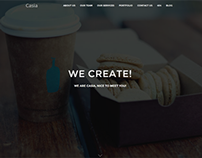 Casia Minimal One Page WordPress Theme