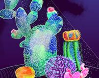 Neon Cacti