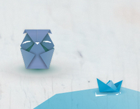 Origami postcards