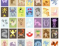 Pokemon minimalist poster