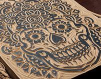 Mandala Sugar Skull - Block Print
