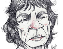 Mick Jagger cartoon