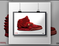 Nike Air Yeezy 2 : Red October : Sneaker Art : Yeezus