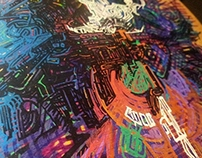 Chaotic Adventure Skateboard Deck Painting