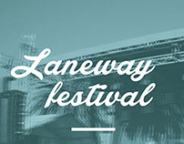 Laneway Festival - Poster Design