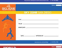 SafeSplash, World Gym, and Sky Zone Certificates
