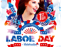 Labor Day Party Flyer vol.2, PSD Template