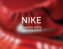 Nike Flagship store opening event - stage design