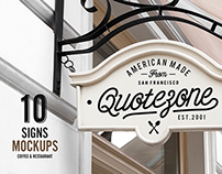 10 Signs Mockups - Coffee Shop & Restaurant