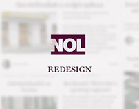 Redesign of political news site NOL.hu