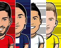 56 football players 2013/2014 season