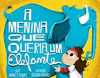 """Children's book """"A menina que queria um elefante"""""""