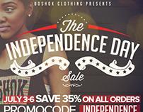 Boshok Independence Day Flyer