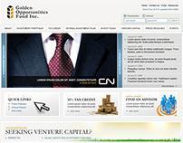Golden Opportunities Fund Website Redesign 2008