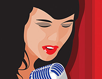 "Vector Illustration - ""Singer"""