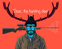 Dear, the hunting deer