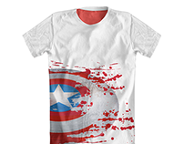 Threadless : Captain America's Bloody Shield