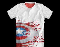 Threadless : Captain America's Bloody Shield