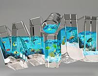 3D Typography Ocean