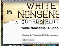 White Nonsense Podcast Logo
