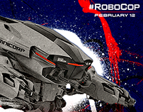 RoboCop (2014) | Social Media Engagement Graphics