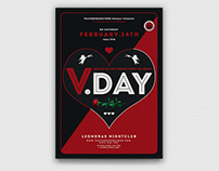 Valentines Day Flyer Template V17