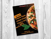 Рекламный флаер для пиццерии