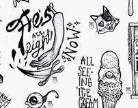 Sticker Design; KCAD Spring 2015
