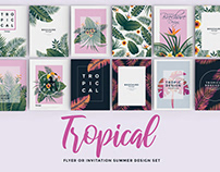 Set of 12 Tropical Flyer Templates